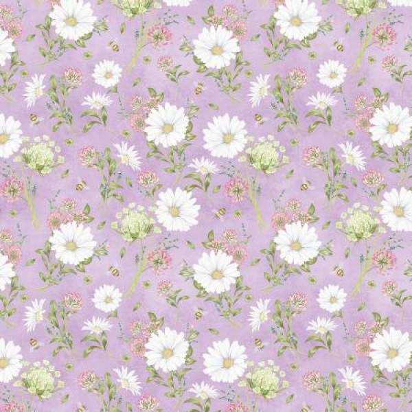 Art of Beekeeping Lavender Floral Toss