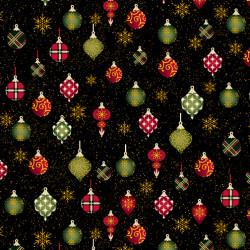 Charm Holiday Ornament Sparkle Black
