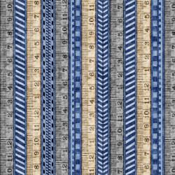 A Little Handy Tape Measures on Blue