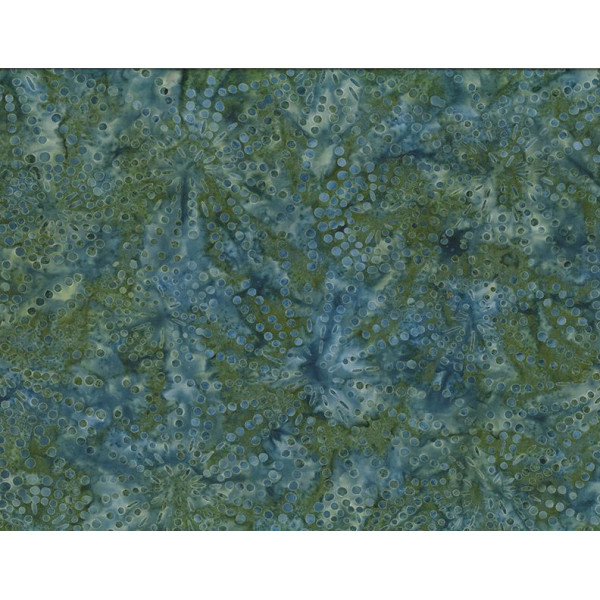Sparkles Green Blue Batik