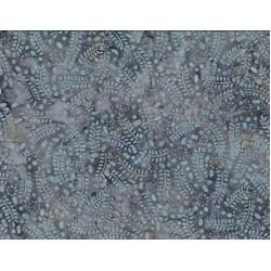 Leaves and Circles Gray Batik
