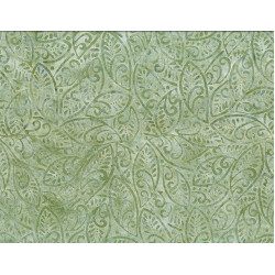 Large Leaves Green Batik