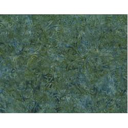 Large Leaves Dk Green Batik