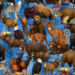Untamed Packed Animals Blue