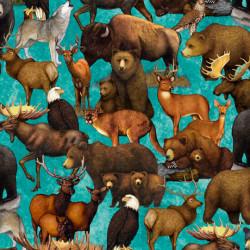 Untamed Packed Animals Aqua
