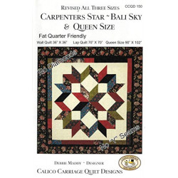 Carpenters Star Bali Sky Quilt Pattern