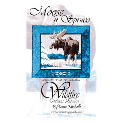 Moose N Spruce Applique Pattern