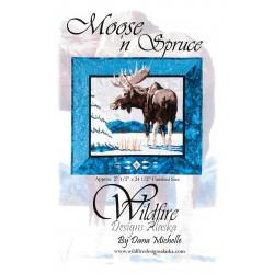 Moose N Spruce Applique Pattern