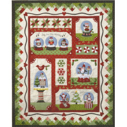 Snow Globe Village Throw Kit