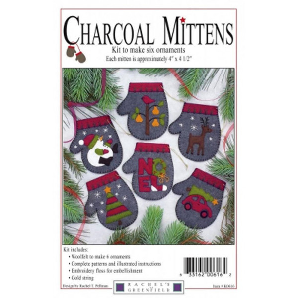 Charcoal Mittens