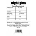 Highlights quilt pattern
