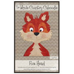 Fox Head Precut Applique