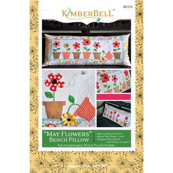 May Flowers Bench Pillow Pattarn