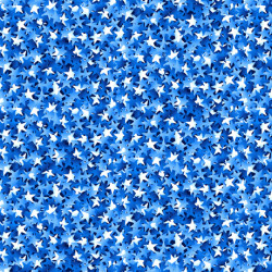 White and, Blue Packed Stars