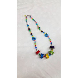 LT Blue Bobbin Necklace