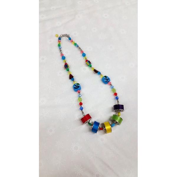 LT Blue Bobbin Necklace