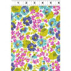 Cassandra Blue/Pink Flowers