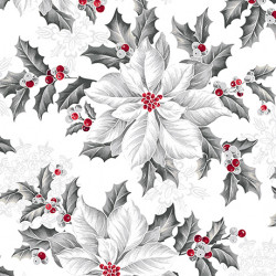 Pretty Poinsettias White