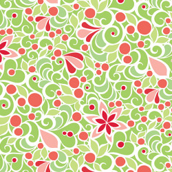 Christmas Magic Green Floral