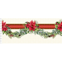 Poinsettia Winter Border Print