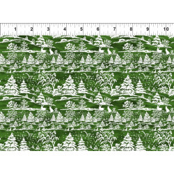 Poinsettia Winter Green Trees