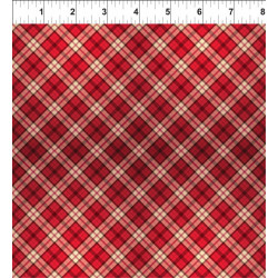 Poinsettia Winter Red Plaid
