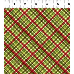 Poinsettia Winter Green Plaid