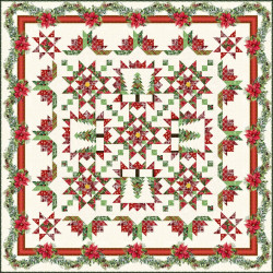 A Poinsettia Winter Quilt Pattern