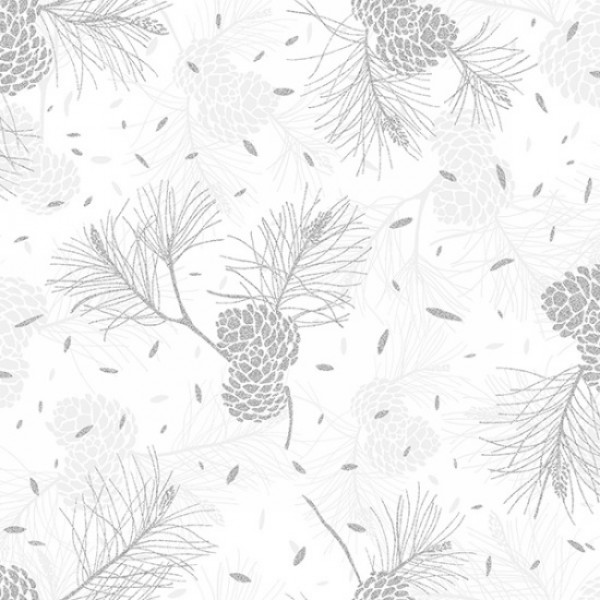 Sparkle + Fade Silver Pine Cones