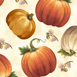 Harvest Elegance Pumpkins/cream