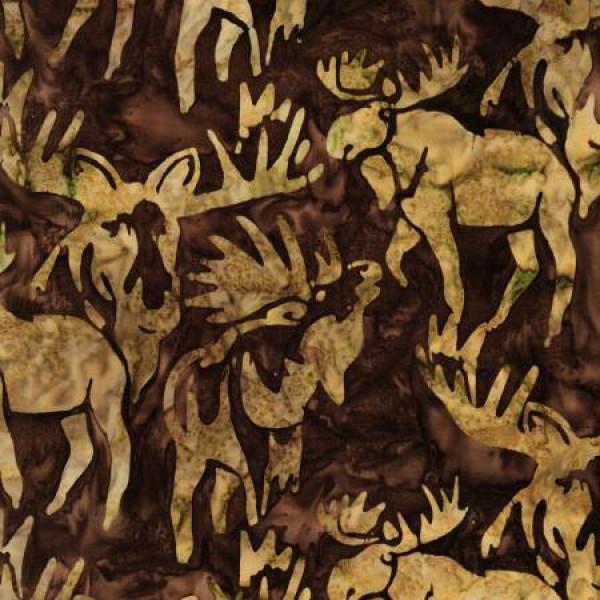 Brown Moose Batik