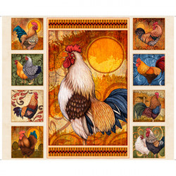Sunrise Farm Rooster Panel