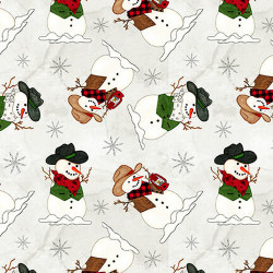 Giddy Up Santa Snowman