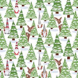 Gnomes Through the Snow Trees