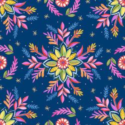 Gypsy Dreams Flowers on Blue
