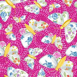 Gypsy Dreams Butterflies on Pink