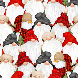 FLANNEL Timber Gnomes Stacked Gnomes