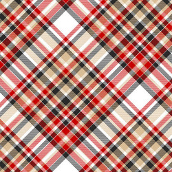 FLANNEL Timber Gnomes Bias Plaid