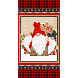 FLANNEL Timber Gnomes Panel