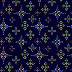Silent Night Midnight Foulard Stars