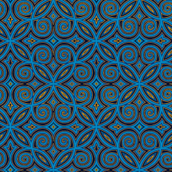 Silent Night Blue Arabesque