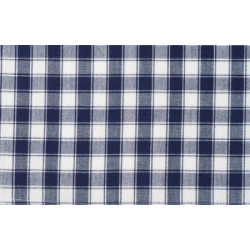 Tea Towel Navy White Plaid