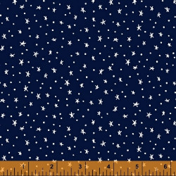 Meadow Whispers Stars on Blue