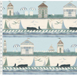 Beach House Border Print