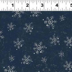 Winter Playground Navy Snowflakes