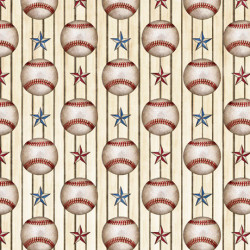 America's Past Time Baseballs on Cream