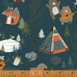 Bear Camp Animals on Blue