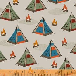 Bear Camp Tents on Cream