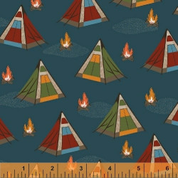 Bear Camp Tents on Blue