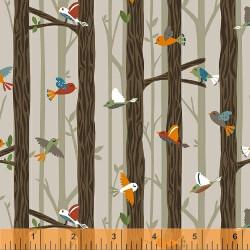 Bear Camp Birds in Trees Cream